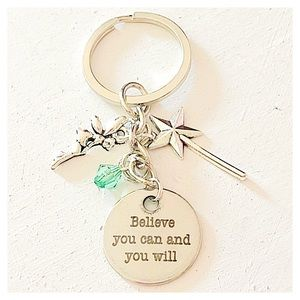 ✨3 for $30✨ Believe You Can and You Will Keychain